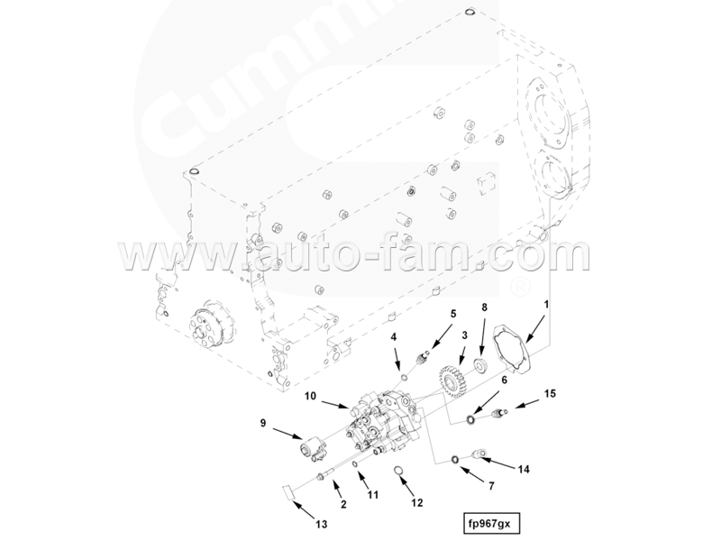 ISG5406056 Fuel Control Valve Repair Kit