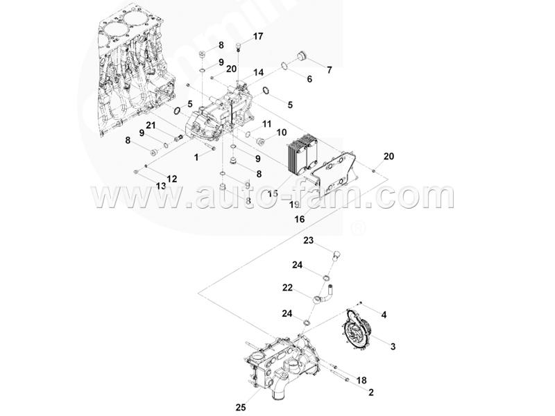 ISG5377721 Oil Cooler Cover